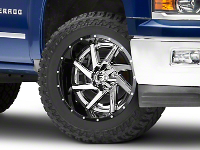 Fuel Wheels Renegade Chrome w/ Gloss Black Lip 6-Lug Wheel - 22x12 (99-18 Silverado 1500)