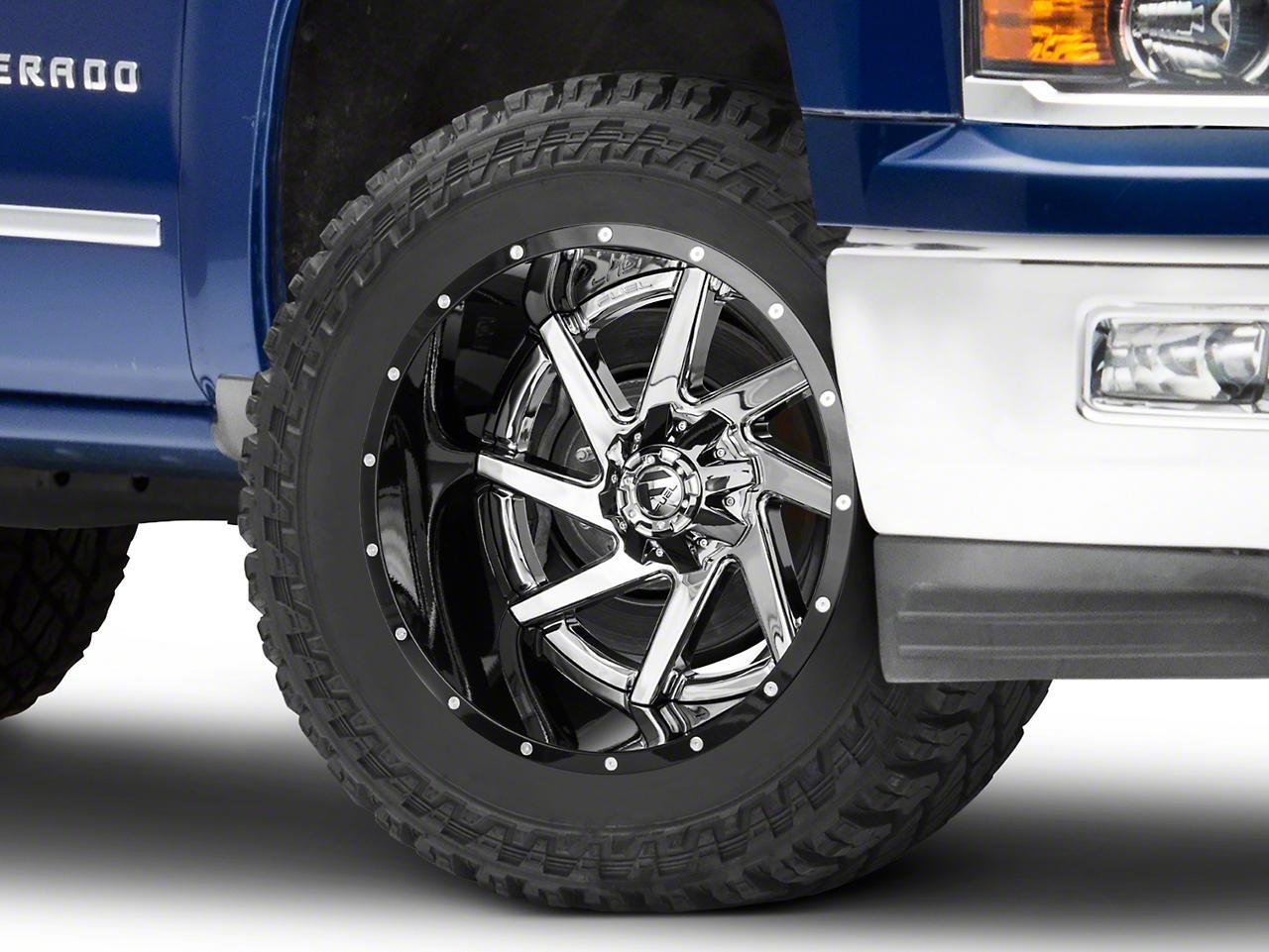 Fuel Wheels Renegade Chrome w/ Gloss Black Lip 6-Lug Wheel - 22x14 (99-18 Silverado 1500)