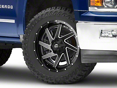 Fuel Wheels Renegade Black Milled 6-Lug Wheel - 22x10 (99-18 Silverado 1500)