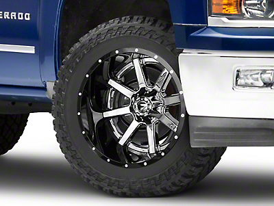 Fuel Wheels Maverick Chrome w/ Gloss Black Lip 6-Lug Wheel - 22x14 (99-18 Silverado 1500)