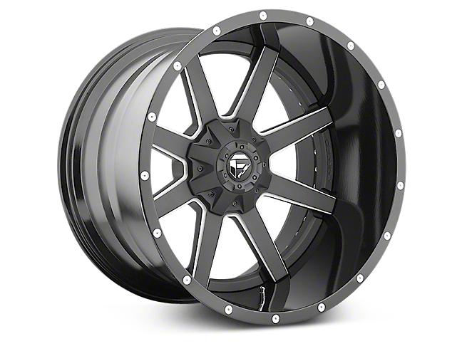 Fuel Wheels Maverick Black Milled 6-Lug Wheel - 22x14 (07-18 Silverado 1500)