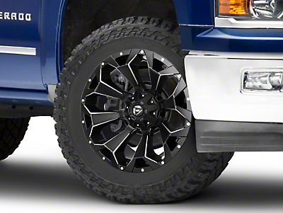 Fuel Wheels Assault Black Miled 6-Lug Wheel - 22x10 (07-18 Silverado 1500)
