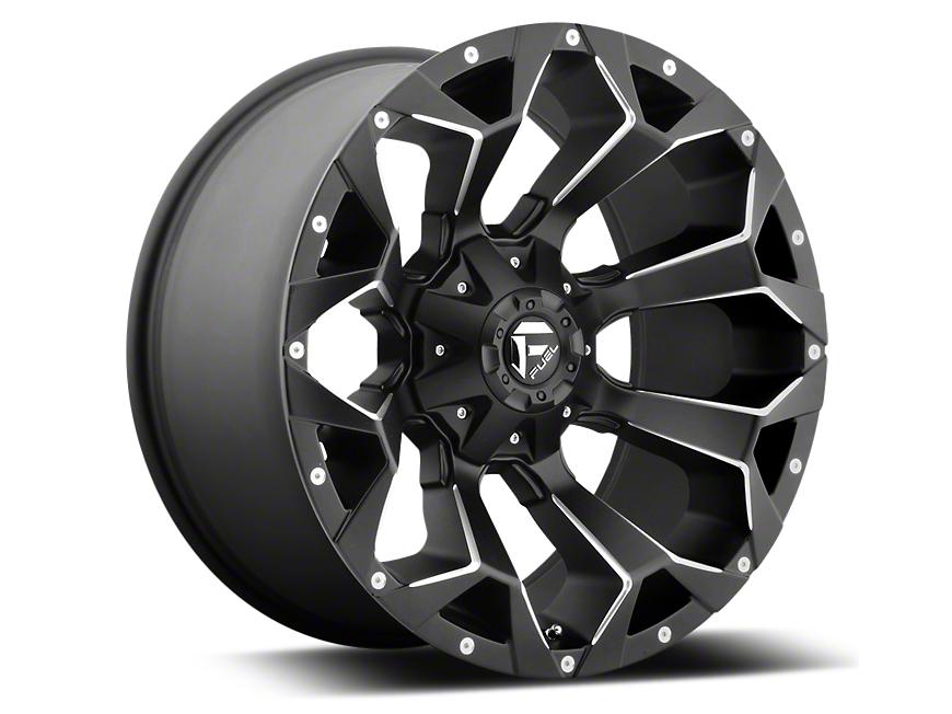 Fuel Wheels Assault Black Miled 6-Lug Wheel - 22x12 (07-18 Silverado 1500)