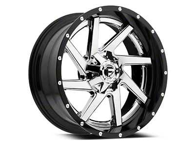 Fuel Wheels Renegade Chrome w/ Gloss Black Lip 6-Lug Wheel - 22x10 (99-18 Silverado 1500)