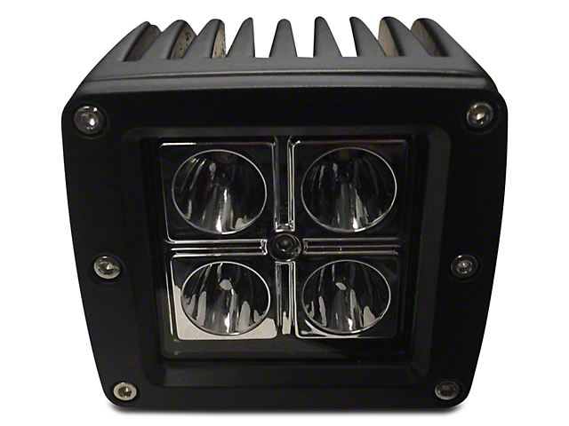 DV8 Off-Road 3 in. Chrome Series LED Cube Light - Spot Beam