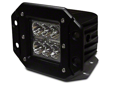 DV8 Off-Road 3 in. Chrome Series Flush Mount LED Cube Light - Spot Beam (07-18 Silverado 1500)