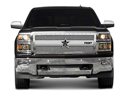 RBP RX-3 Series Studded Frame Upper Grille Insert - Chrome (14-18 Silverado 1500)