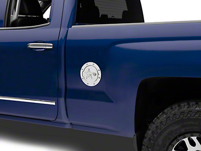 RBP RX-2 Series Locking Fuel Door - Polished (14-18 Silverado 1500)