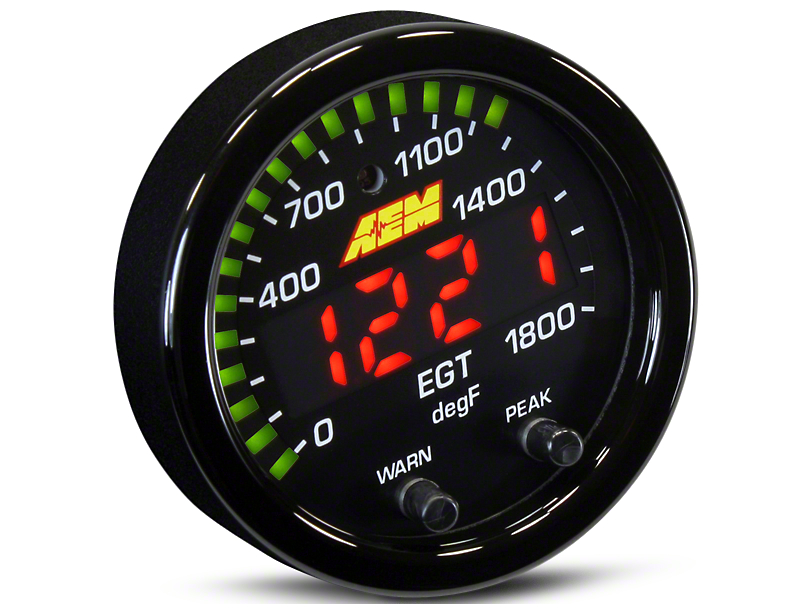 AEM Electronics X-Series Exhaust Temperature Gauge - Electrical (99-18 Silverado 1500)