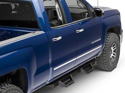 ICI Magnum RT Cab Length Side Step Bars - Black (14-18 Silverado 1500 Double Cab, Crew Cab)
