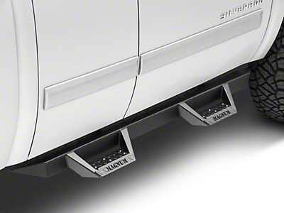 ICI Magnum RT Cab Length Side Step Bars - Black (07-13 Silverado 1500 Extended Cab, Crew Cab)