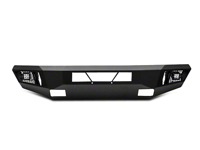 Black Horse Off Road Armour Front HD Bumper w/ 20 in. Light Bar & Dually Lights (16-18 Silverado 1500)