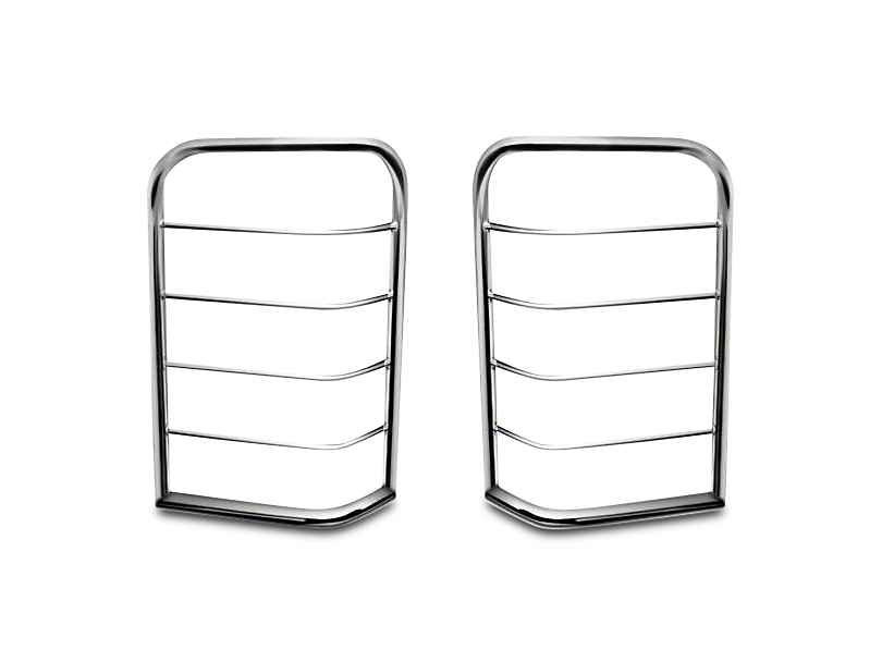Black Horse Off Road Tail Light Guards - Stainless Steel (07-13 Silverado 1500)
