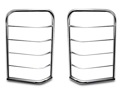 Black Horse Off Road Tail Light Guards - Stainless (07-13 Silverado 1500)