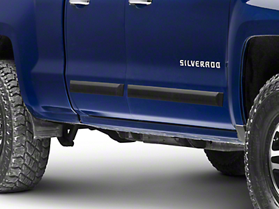 MMD Rugged Look Body Side Moldings - Matte Black (14-18 Silverado 1500 Double Cab, Crew Cab)