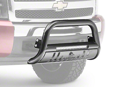 Black Horse Off Road 3 in. Beacon LED Bull Bar - Black (07-18 Silverado 1500)