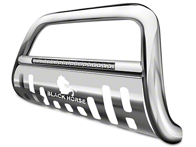 Black Horse Off Road 3 in. Beacon LED Bull Bar - Stainless (07-18 Silverado 1500)