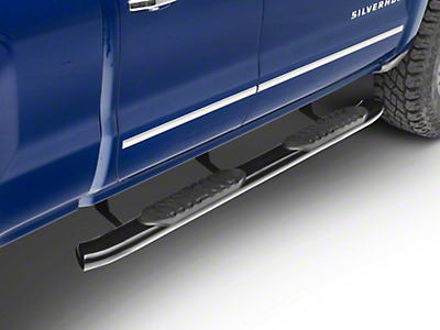 Black Horse Off Road 5 in. Extreme Side Step Bars - Black (14-18 Silverado 1500 Double Cab, Crew Cab)