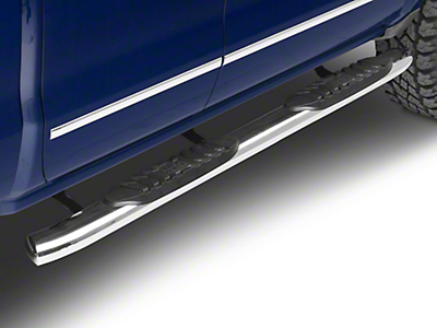 Black Horse Off Road 5 in. Extreme Side Step Bars - Stainless Steel (14-18 Silverado 1500 Double Cab, Crew Cab)