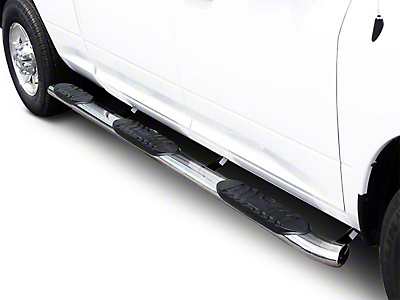Black Horse Off Road 5 in. Extreme Wheel to Wheel Side Step Bars - Stainless (07-13 Silverado 1500 Crew Cab)