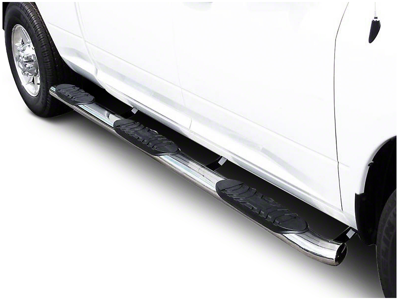 Black Horse Off Road 5 in. Extreme Wheel to Wheel Side Step Bars - Stainless Steel (14-18 Silverado 1500 Crew Cab w/ Short Box)