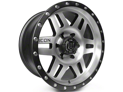 ICON Vehicle Dynamics Six Speed Satin Black Machined 6-Lug Wheel - 17x8.5 (07-18 Silverado 1500)