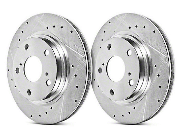 Power Stop Evolution Cross-Drilled & Slotted Rotors - Rear Pair (07-13 Silverado 1500 w/ Rear Disc Brakes; 14-18 Silverado 1500)