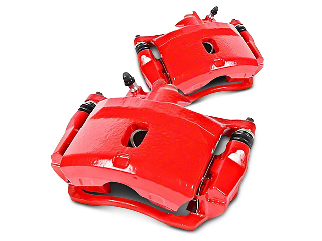 Power Stop Performance Front Brake Calipers; Red (07-18 Silverado 1500)