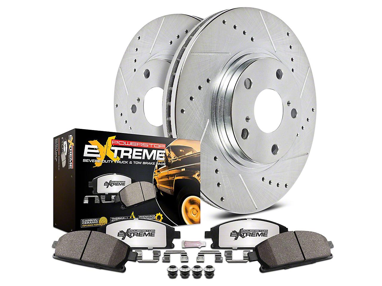 Power Stop Z36 Extreme Truck & Tow Brake Rotor & Pad Kit - Rear (07-13 Silverado 1500 w/ Rear Disc Brakes)