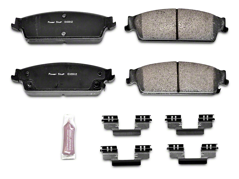 Power Stop Z23 Evolution Sport Ceramic Brake Pads - Rear Pair (07-13 Silverado 1500 w/ Rear Disc Brakes)