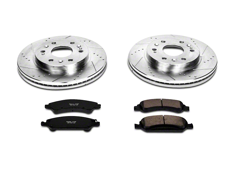 Power Stop Z23 Evolution Sport Ceramic Brake Pads and Rotor Kit - Front Pair (07-18 Silverado 1500)