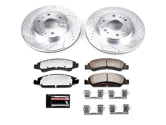 Power Stop Z36 Extreme Truck and Tow 6-Lug Brake Rotor and Pad Kit; Front (07-18 Silverado 1500)