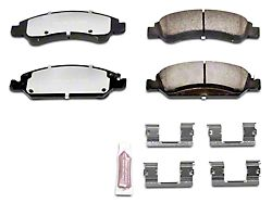 Power Stop Z36 Extreme Truck and Tow Carbon-Fiber Ceramic Brake Pads; Front Pair (07-18 Silverado 1500)