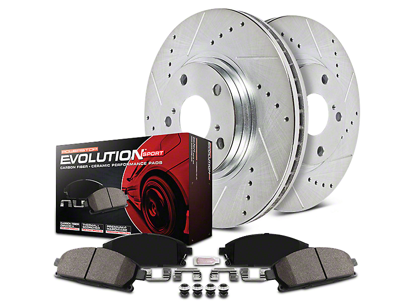 Power Stop Z23 Evolution Sport Brake Rotor & Pad Kit - Front & Rear (14-18 Silverado 1500)