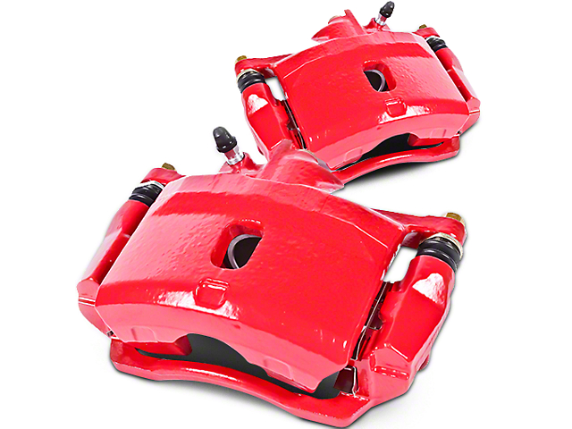 Power Stop Performance Rear Brake Calipers - Red (07-13 Silverado 1500 w/ Rear Disc Brakes; 14-18 Silverado 1500)