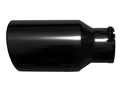 Pypes 5 in. Rolled Angled Cut Exhaust Tip - Black - 2.5 in. Connection (99-18 Silverado 1500)