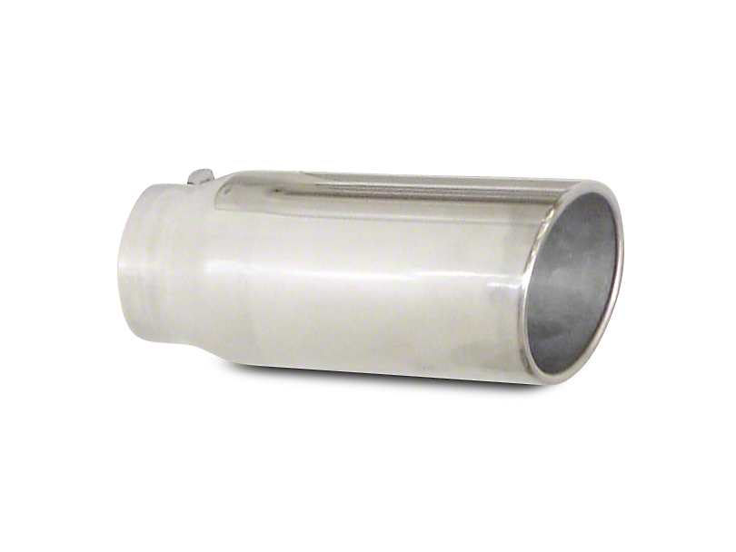 Pypes 5 in. Polished Rolled Angled Cut Exhaust Tip - 3 in. Connection (99-19 Silverado 1500)