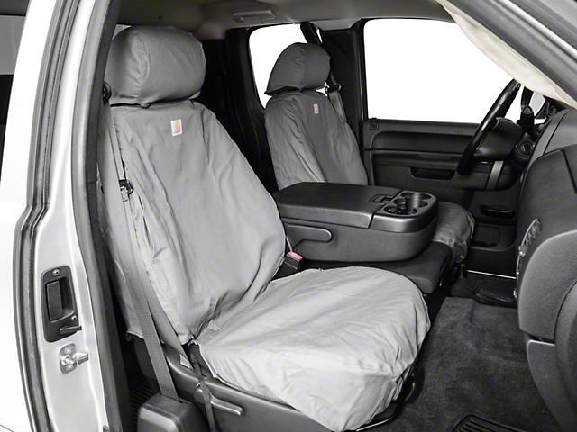 Covercraft Carhartt SeatSaver Front Seat Covers - Gravel (07-13 Silverado 1500 w/ Bucket Seats)