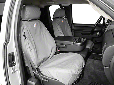 Covercraft Carhartt SeatSaver Front Seat Covers - Gravel (07-13 Silverado 1500 w/ Bucket Seats)