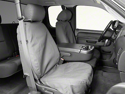 Covercraft SeatSaver Front Seat Covers - Charcoal (07-13 Silverado 1500 w/ Bucket Seats)
