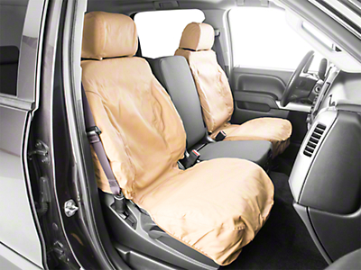 Covercraft Seat Saver Front Seat Covers - Tan (14-18 Silverado 1500 w/ Bucket Seats)