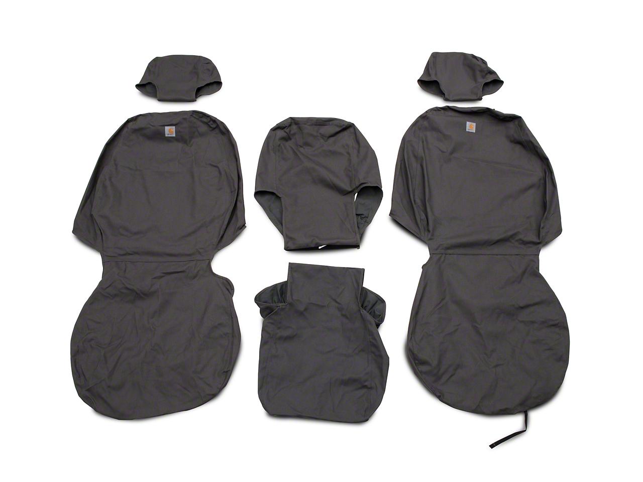 Covercraft Carhartt Seat Saver Front Seat Covers - Gravel (07-13 Silverado 1500 w/ Bench Seat)