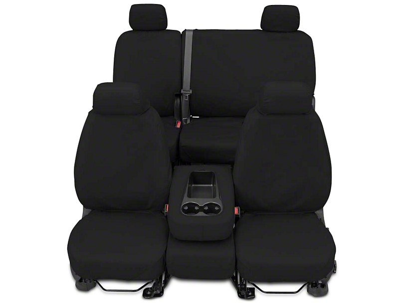 Covercraft SeatSaver Front Seat Covers - Charcoal (14-18 Silverado 1500 w/ Bench Seat)