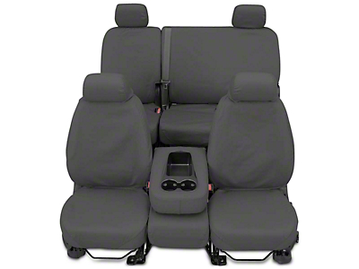 Covercraft Seat Saver Front Seat Covers - Gray (2017 Silverado 1500 w/ Bench Seat)