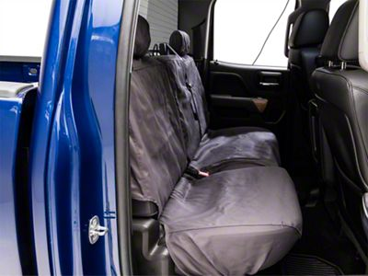 Covercraft SeatSaver 2nd Row Seat Cover - Charcoal (14-18 Silverado 1500 Double Cab w/ 60/40 Split Bench Seat)