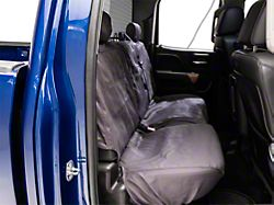 Covercraft SeatSaver Second Row Seat Cover; Charcoal (14-18 Silverado 1500 Double Cab w/ Rear 60/40 Split Bench Seat)