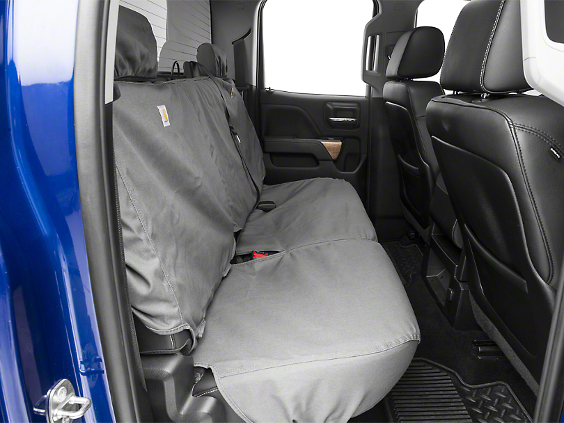 Covercraft Carhartt SeatSaver 2nd Row Seat Cover - Gravel (14-18 Silverado 1500 Double Cab, Crew Cab)