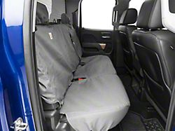 Covercraft Carhartt SeatSaver Second Row Seat Cover; Gravel (14-18 Silverado 1500 Double Cab w/ Rear 60/40 Split Bench Seat)