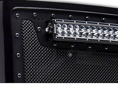 T-REX Stealth Metal Series Upper Replacement Grille w/ 12 in. & Two 6 in. LED Light Bars - Black (14-15 Silverado 1500)