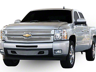 T-REX Upper Class Series Upper Overlay Grilles - Polished (07-13 Silverado 1500)